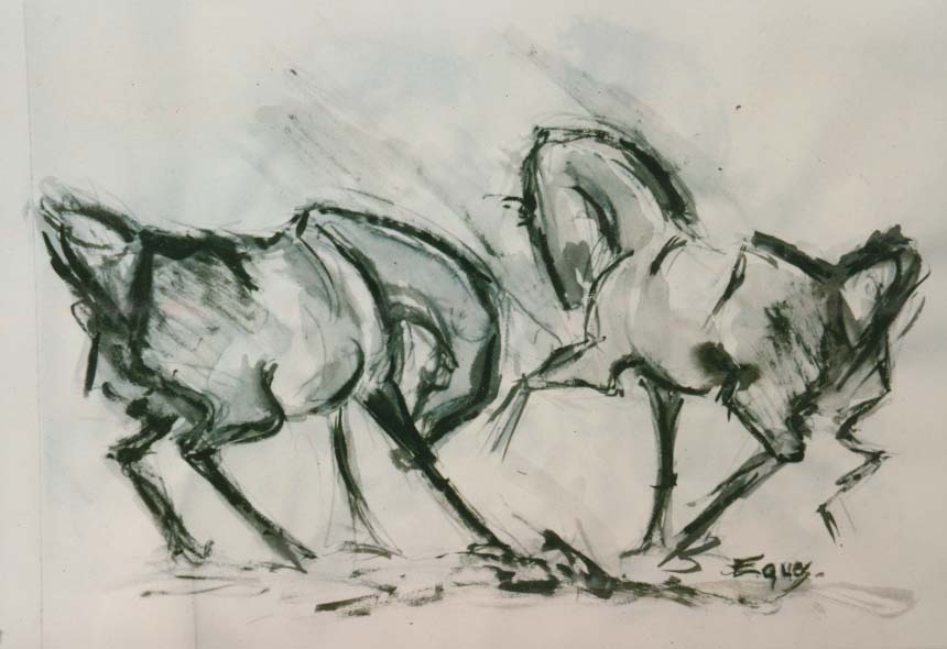 Eques Artiste peintre, Dessin : 60x80 Expression II